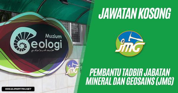 jawatan kosong Jabatan Mineral & Geosains Malaysia (JMG) 2019