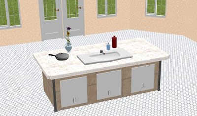 Customized cabinets created in DreamPlan Home Design Software