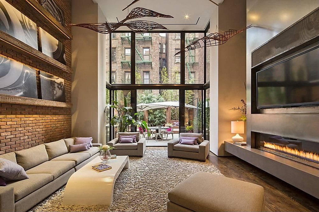 modern townhouse with loft design new york city architectural drawing awesome. Black Bedroom Furniture Sets. Home Design Ideas