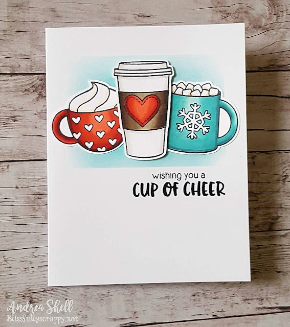 Sunny Studio Stamps: Mug Hugs Cup of Cheer Card by Andrea Shell