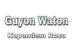 Kunci Gitar Guyon Waton Kependem Roso