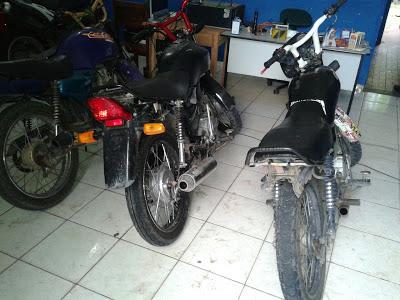 PM apreende 3 motos adulteradas em Anapurus-MA