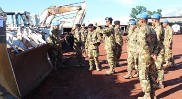 Komandan PMPP TNI Kunjungi Satgas KIZI TNI Konga di Kongo
