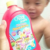 mandi dengan carrie junior syampu badan yang mampu milik