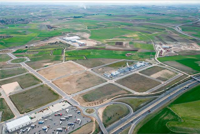 Vista aerea de la ubicación de la nueva planta de Michelin