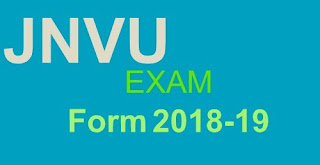 jnvu ba 1st year exam form 2018-19