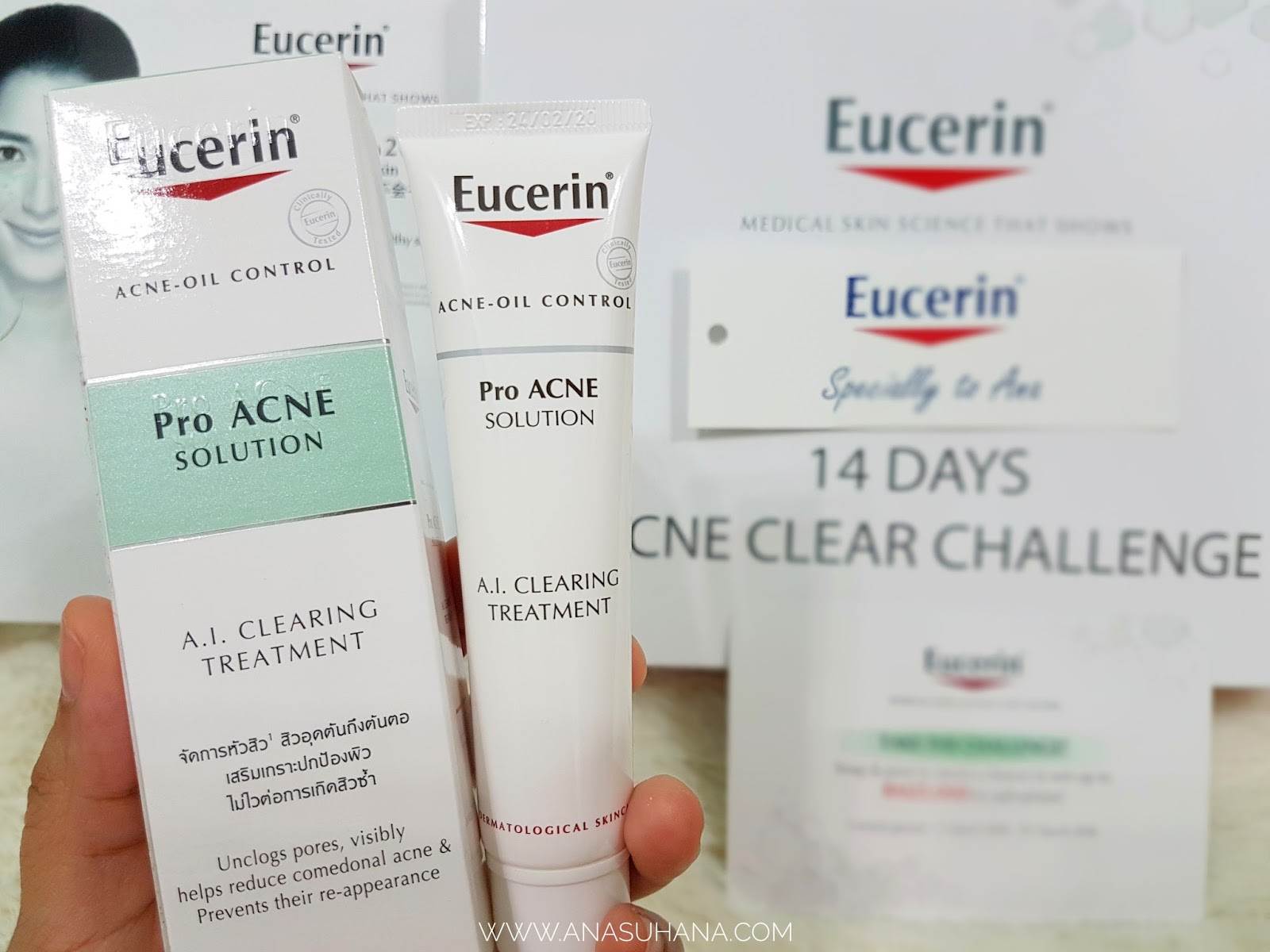 14 Days Challenge with Eucerin ProAcne Solution A.I. Clearing Treatment