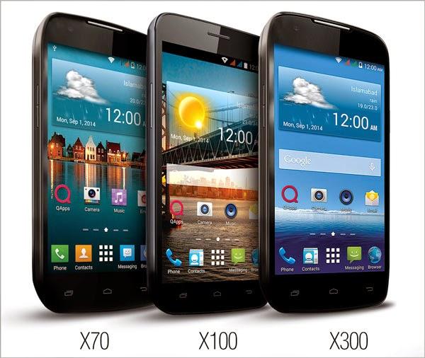 QMobile LINQ X70, X100 & X300 urdu