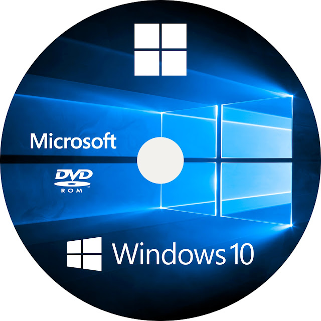 Windows 10 DVD Label