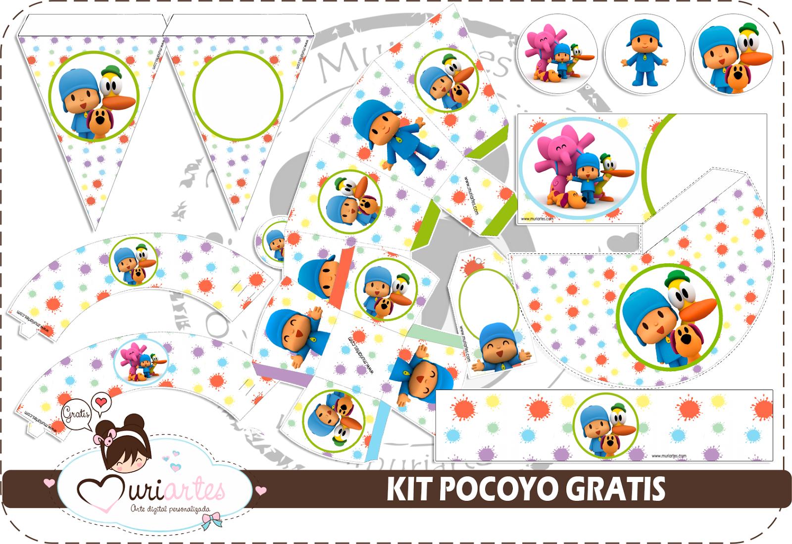 Kit De Pocoyó Para Imprimir Gratis Ideas Y Material