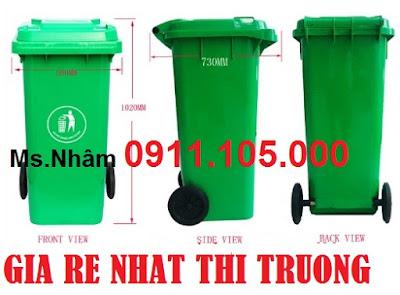 thung rac cong cong 240 lit