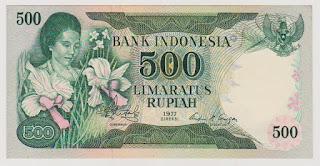 500 Rupiah Bunga Anggrek Tahun 1977