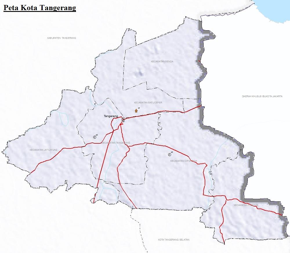 Peta Kota Tangerang Banten