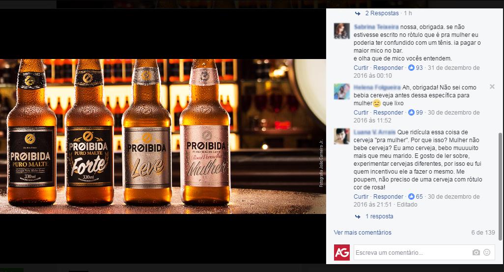 Proibida lança cerveja mais delicada e perfumada para as mulheres e irrita público