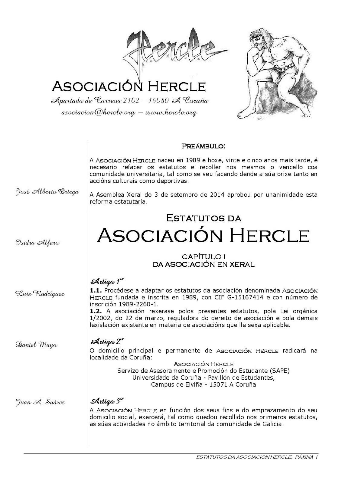 Estatutos de Hercle
