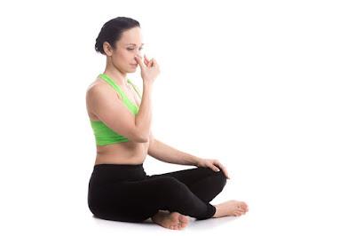 Bài tập thở qua mũi trái