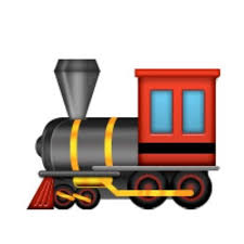 Cartoon train emoji