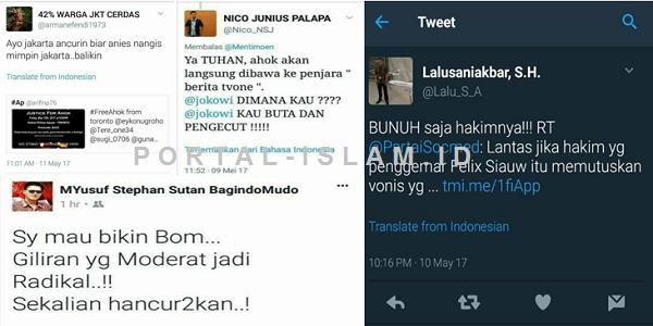 MAKIN EDAN! Ini Ancaman-Ancaman Ahoker: Dari Ancurin Jakarta Sampai Bunuh Hakim