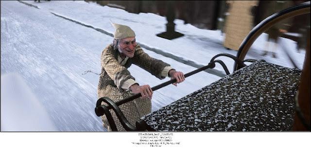 Scrooge on carriage A Christmas Carol 2009 animatedfilmreviews.blogspot.com