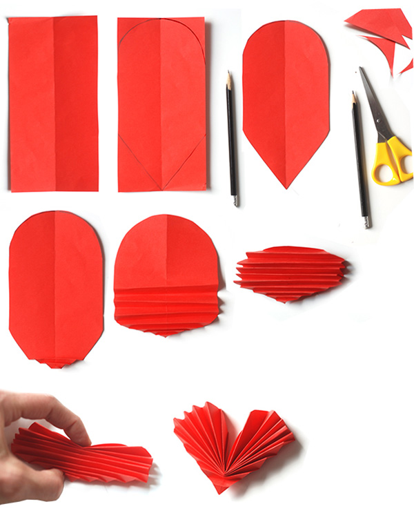 Cómo hacer corazones de papel en origami para san Valentin ~ lodijoella