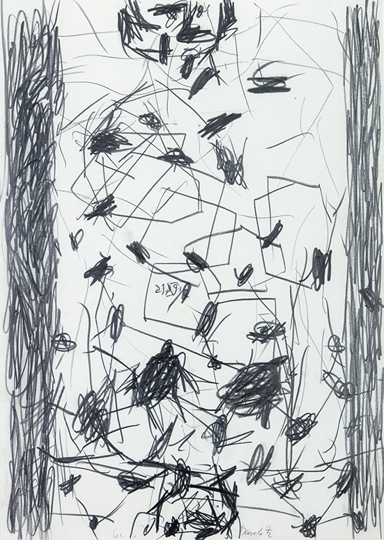 Georg Baselitz   Untitled, 1991 Pencil on paper 86 x 61 cm