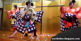 Escena del espectáculo kabuki