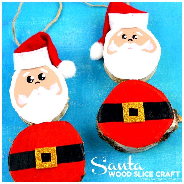 Santa Wood Slice Craft