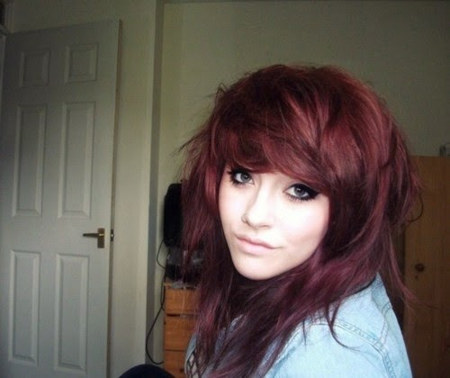 Burgundy dark Hair