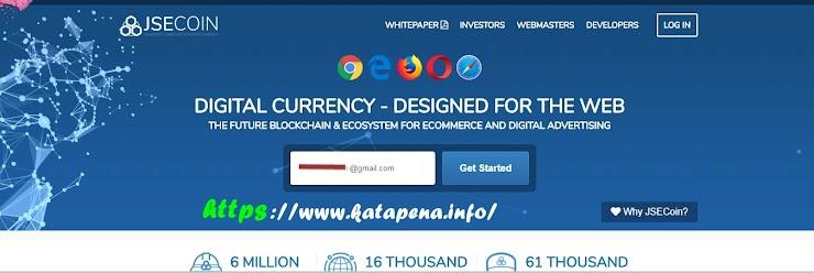 Saingan Google Adsense Terbaru, Mining JSE Coin Untuk Penghasilan  Web (Blog)
