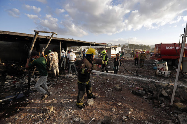 Vídeo tragedia  explosión de pirotecnia, México