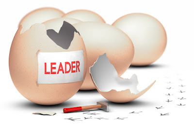 "An egg labeled ""Leader"" is cracked open"