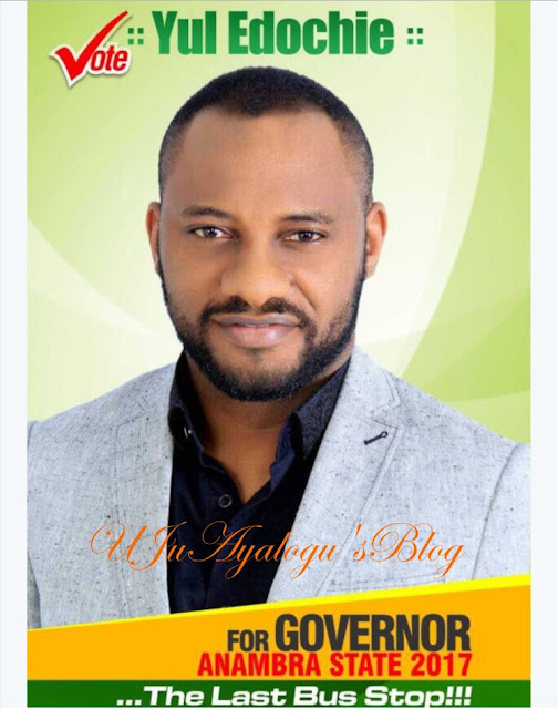 Nollywood's Yul Edochie Joins Anambra Governorship Race, See His Campaign Poster