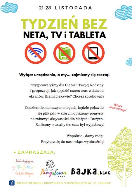 Tydzień bez neta TV i tableta