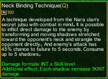 naruto castle defense 6.0 Shikamaru Neck Binding Technique detail