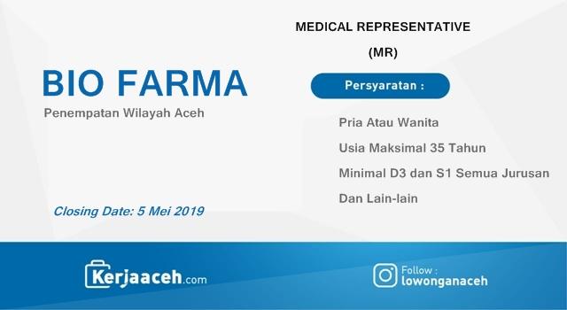 Lowongan Kerja Aceh Terbaru 2019 D3 dan S1 di Bio Farma Aceh