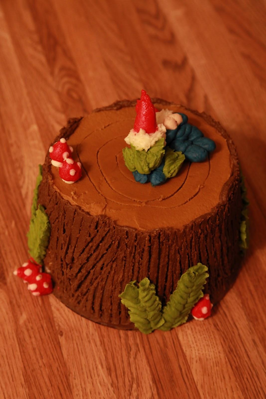 The Cake Box Girls Woodland Gnome Birthday Cake