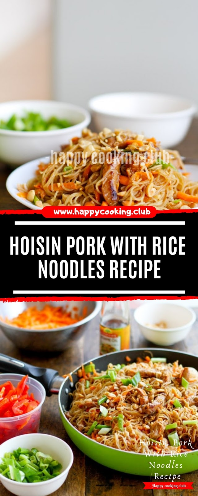 Hoisin Pork With Rice Noodles Recipe