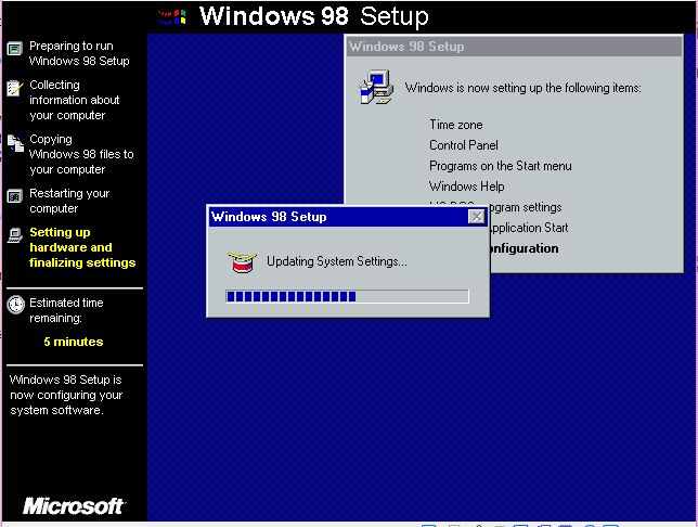 how to install win98 on xp