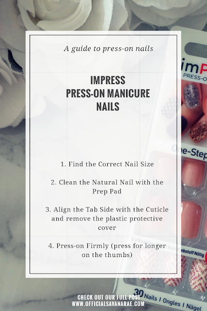 HOW TO QUICK AND EASY PRESS ON MANICURE BY IMPRESS IN HER SHOES STYLE