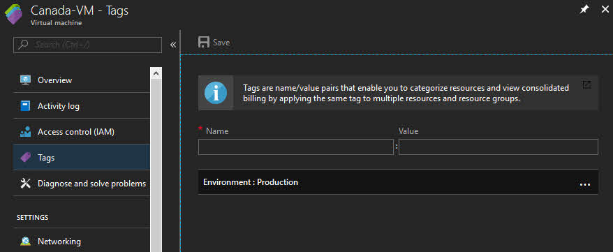 Organizing Azure tags to logically identify them