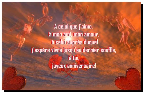 Poème Sur Bon Anniversaire Mon Amour