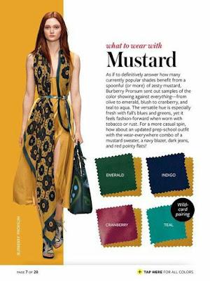 Kombinasi warna pakaian yang boleh digandingkan dengan warna mustard