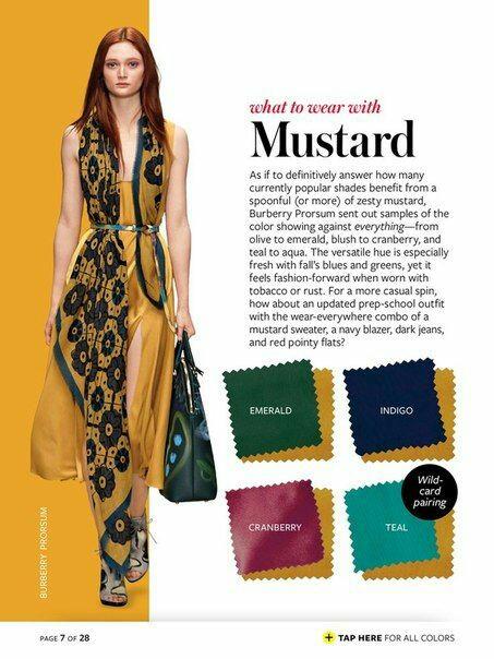 Wordless : Kombinasi warna pakaian untuk warna mustard
