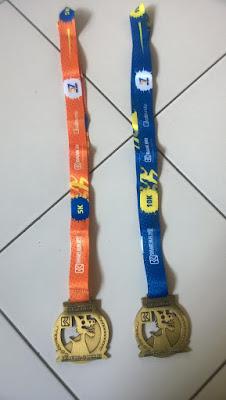 Tali Medali 5K dan 10K