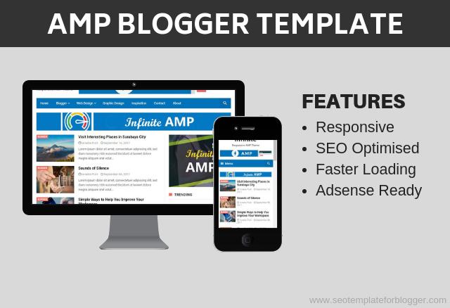 AMP Free Responsive Blogspot Theme