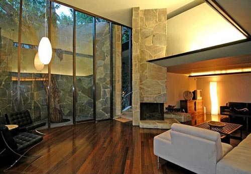 Genial Luxury Home Interior Designs In Los Angeles By Legendary Architect John  Lautner. This Is An Example Of Home Design With Stone Walls And Put On A  Modern And ...