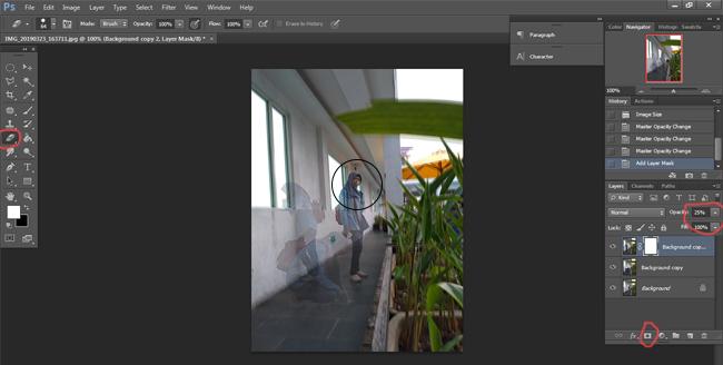 Membuat Foto Kloning dengan Photoshop
