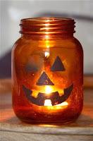 frascos de vidrio para halloween