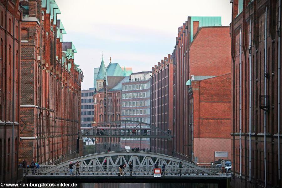 Brücken in der Speicherstadt von Hamburg