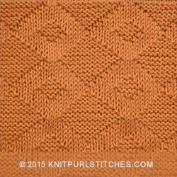 Giant Diamond stitch is an easy reversible knitting pattern stitch that would be wonderful knit up into a baby blanket or a afghan.